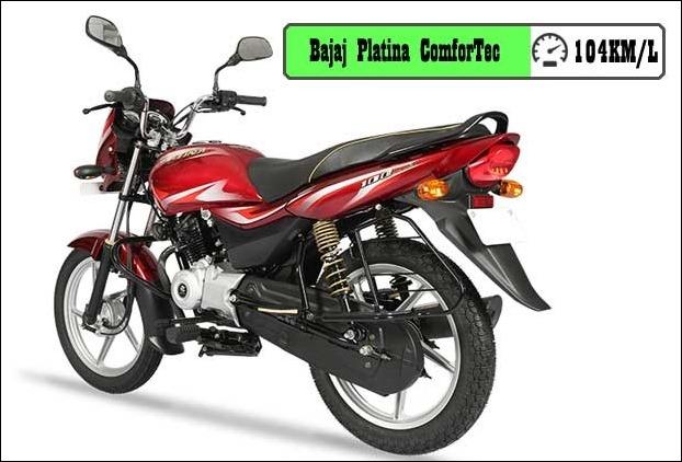Bajaj Platina ComforTec , the 102cc bike , delivers phenomenal mileage of approx 104 KMPL