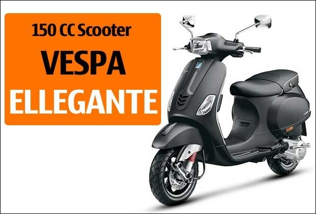 Vespa's Elegante the 150cc scooter launched in India has 12 inch alloy wheels