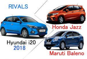 Hyundai i20 2018 Indian rivals