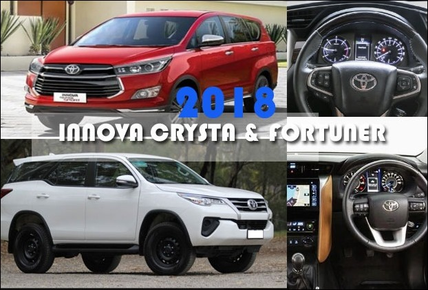 Facelift 2018 - Innova Crysta MPV and Fortuner SUV