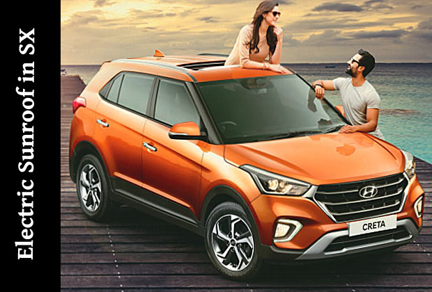 Introduction of sunroof in Creta in top variant