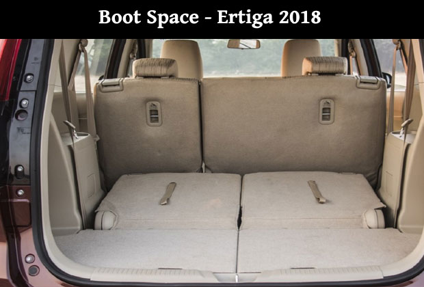 New Ertiga has 153 litre ofboot space