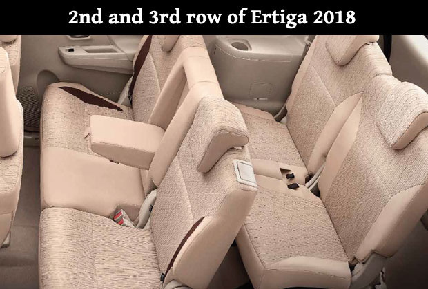 Ertiga 2018 now has head rest feature in third row