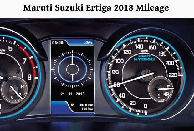 Mileage of new Ertiga 2018 has also improved.