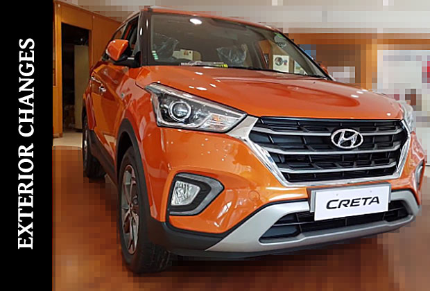 Frontal Updates in Hyundai Creta 2018 facelift model
