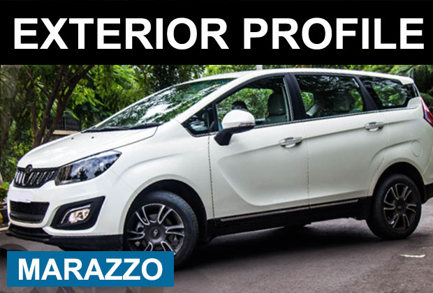 Exterior Side Profile of Mahindra Marazzo MPV car