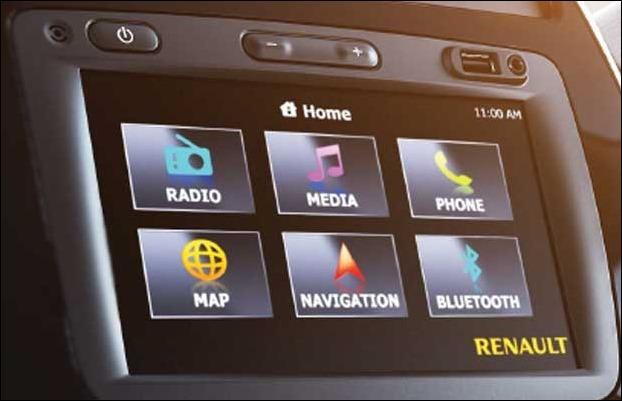 Renault KWID touchscreen infotainment system