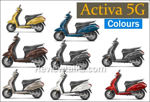 Honda Activa 5G Available Colours