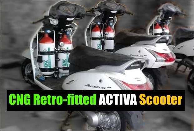CNG Kit fitted Honda Activa Scooters