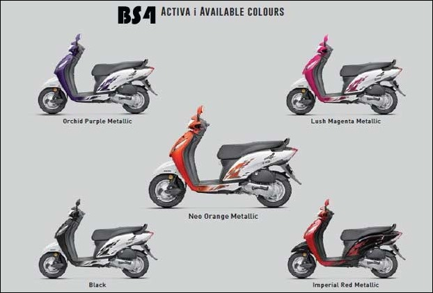 Activa-I 2017 launched in 5 attractive colours
