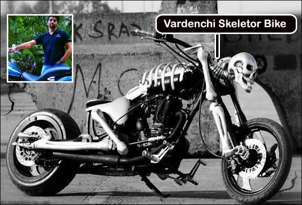 The Ghost Rider bike Skeletor by Vardenchi Motorcycles is based on Royal Enfield Thunderbird