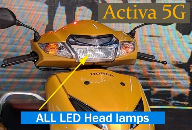 all LED headlamps replace halogens in new Activa 5G