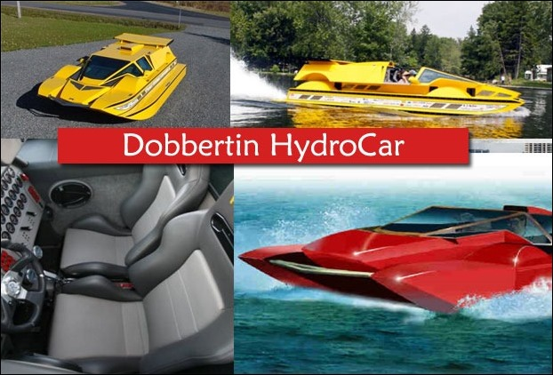 Amphibean Dobbertin HydroCar's Chevrolet engine which generates 762 HP of power