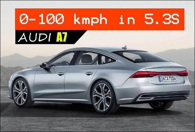 Audi A7 top speed is 250 kilometers per hour