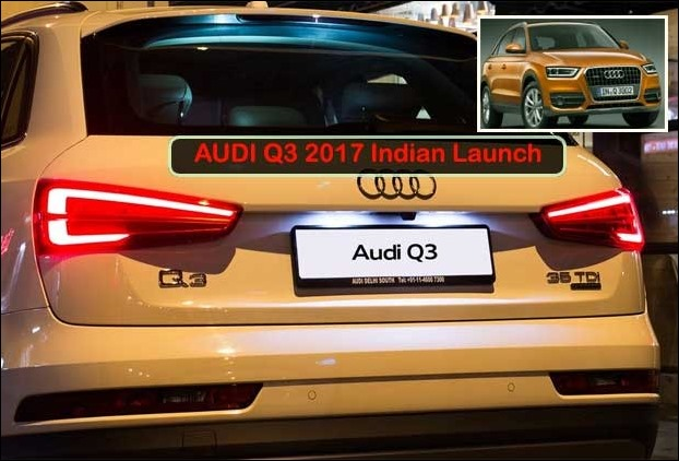 2017 Audi Q3 was unveiled in India with redesigned Bumber and high end features