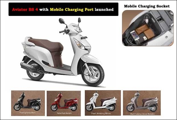 Honda Aviater gets HET BS 4 Engine and features like mobile charging port in new update