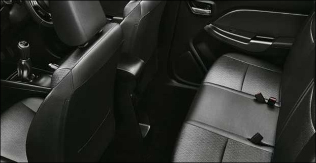 Seating is comfortable  in Baleno with ample space for 5 passengers