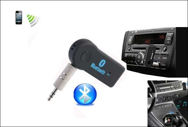 Aux Bluetooth adapter is a cool accesory to play music of your smartphone through car speakers
