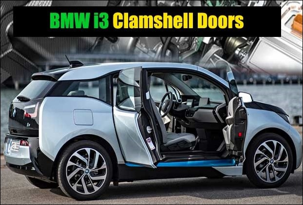 Typical Clamshell doors in new 2017 BMW i3 electric car