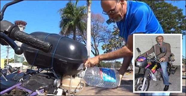 Ricardo Azevedo , a person in Brazil , has invented a bike which uses just 1 litre of water to travel a distance of 500 KM