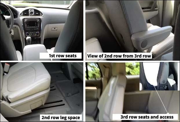 Access to third row by sliding 2nd row creates comfortable space for passengers