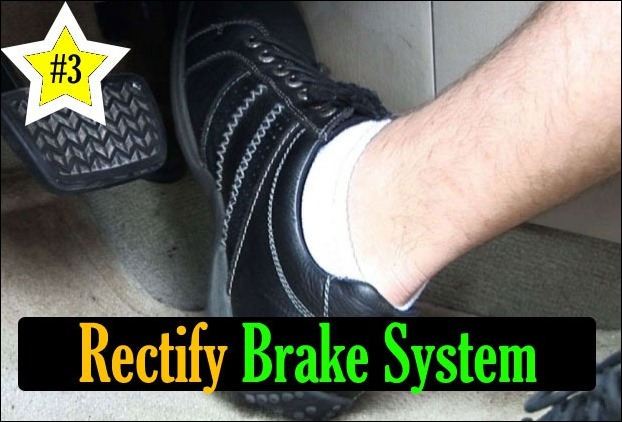 If you need to press the brakes deep down, take the car to a mechanic immediately