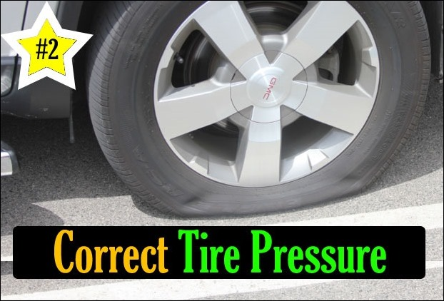 Check the air pressure in the tire, because low air pressure in the tire affects on the engine performance