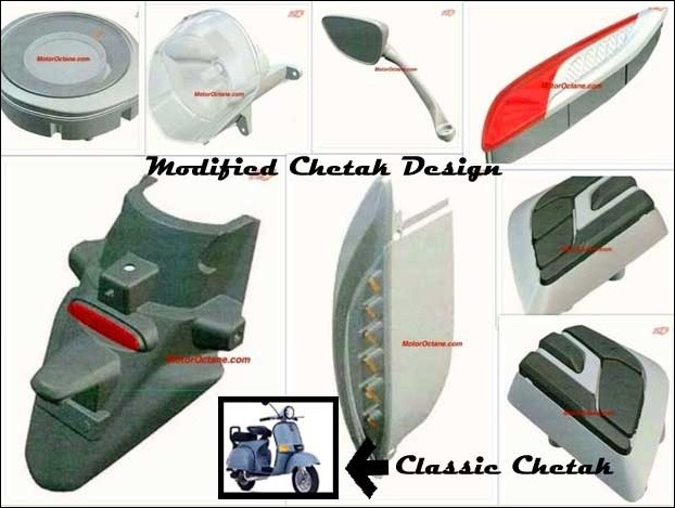 Bajaj Chetak in Modified Design Surfaced on Internet