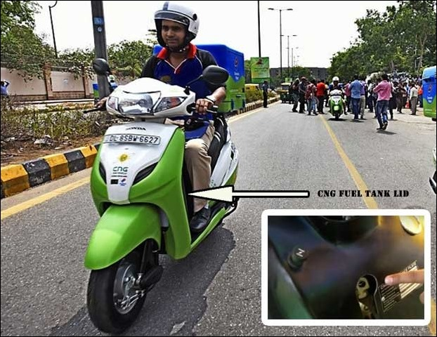 CNG Scooters pilot trail in Delhi