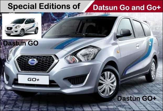 The new Datsun Go and Go+ receive black rear spoilers and new stickers
