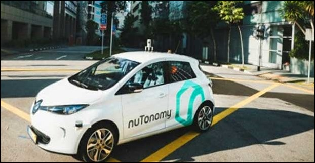 nuTomomy performs a trial of driverless taxi service 'Robo Taxi' in Singapore
