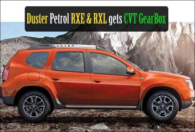 Renault Duster RXE/RXL Petrol gets updated with CVT gearbox feature and a new colour