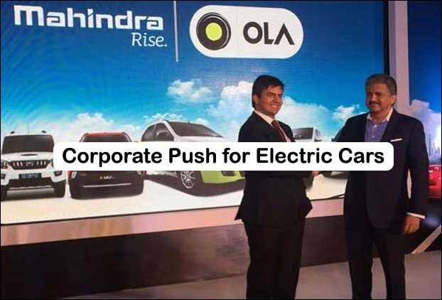 Big Corporate Houses are promoting the use of Electrical Cars in India