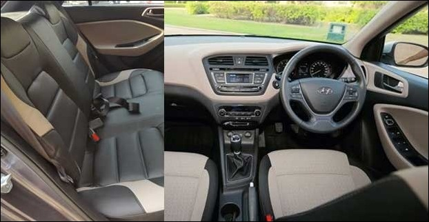 Hyundai i20 Elite has a cool interior with a seating capacity of 5 persons