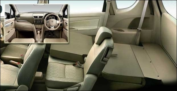 Ertiga is a 7 seater suv which comes with foldable 3rd rows seats