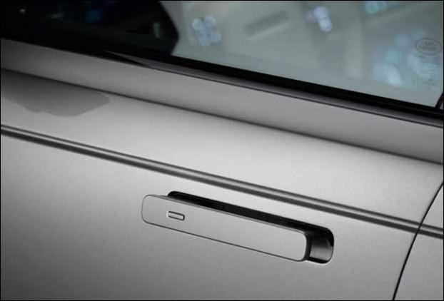 The beautiful door handles of  Land Rover Range Rover Velar SUV