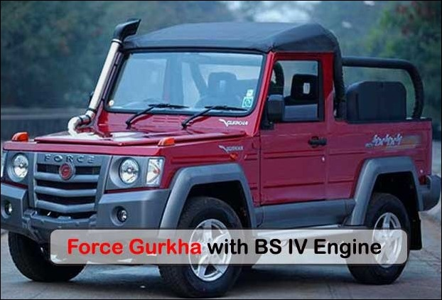 BS IV  Compliant Force Gurkha SUV launched at Rs 8.38 lakh