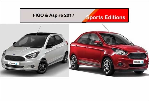 2017 Sports Editions of Ford Figo and Ford Aspire launched