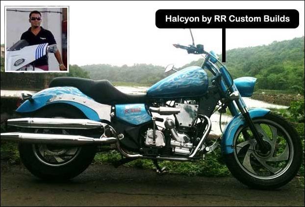 Bike builder Gabriel D Zuzarte of Road Rage Customs with Halycon Bike