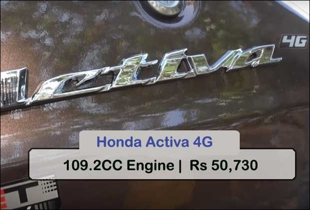 Hond Activa is the most selling scooter among gearless ones