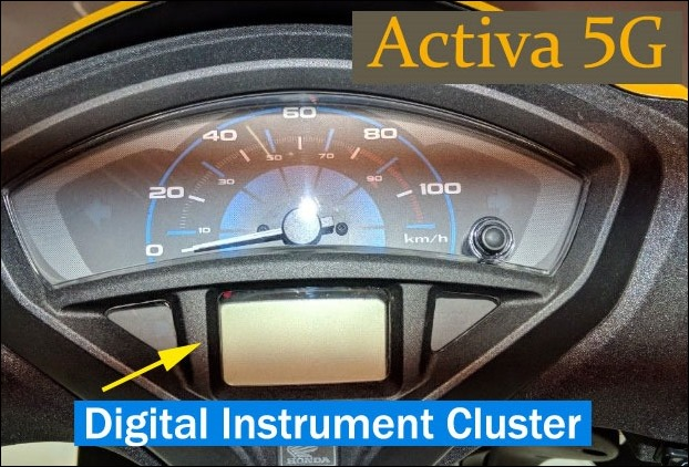 This is Honda Activa 5G's digital instrument cluster