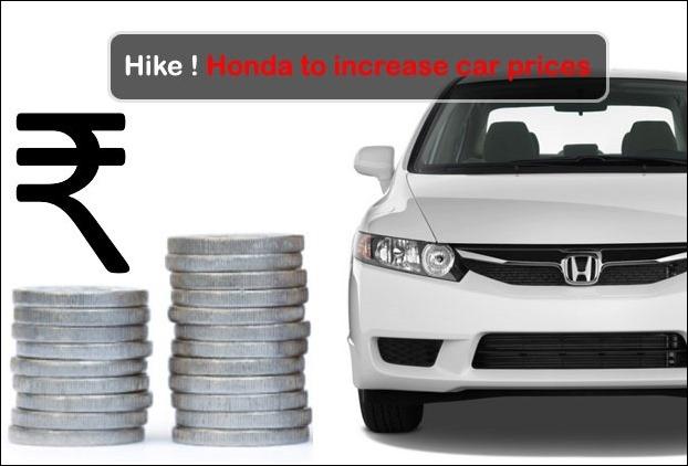 Honda Car prices ro increase from April 2017