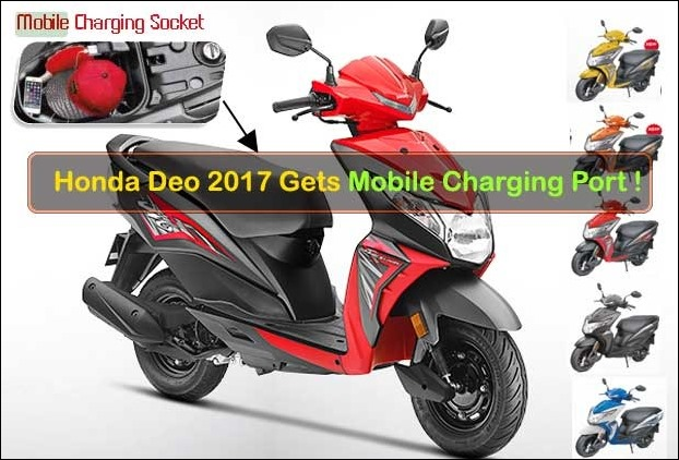BS IV Complianr Honda Deo 2017 with Mobile Charging Port and 2 new colours