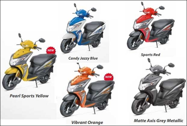 Honda Dio is available in these 5 colours in India