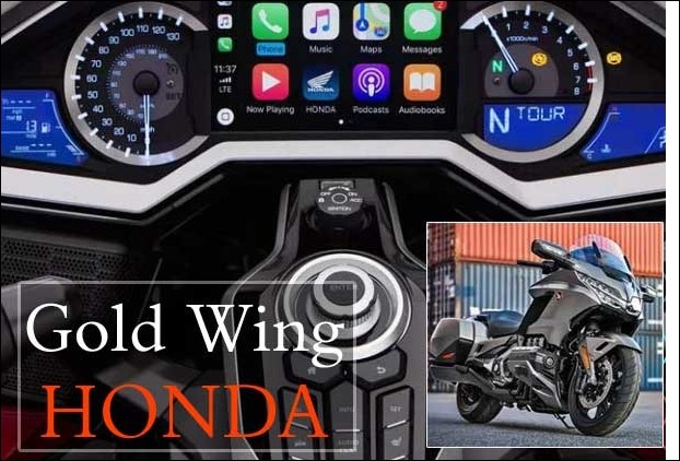 Updated Honda Gold Wing to be 1st bike with Apple CarPlay and Reverse Gear