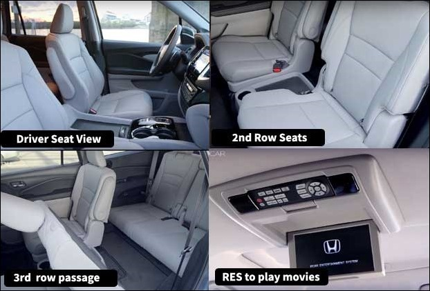 Honda Pilot Interior , Seats and third row Passage