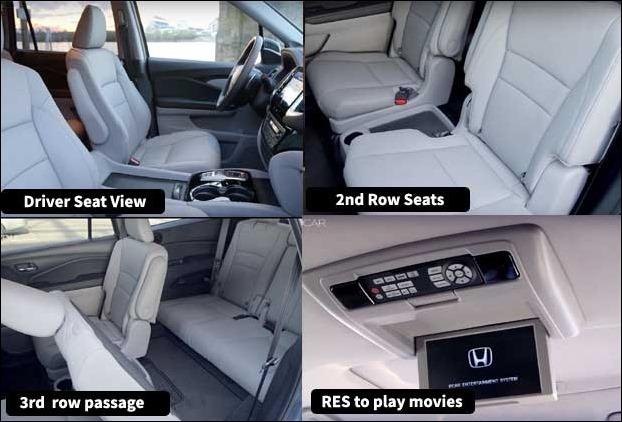 Honda Pilot Interior , Seats and third row Passage