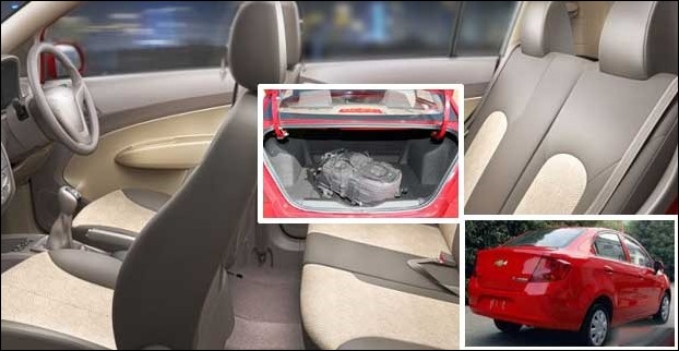 Spacious Interior and large boot space are the pros of Chevy Sail Sedan