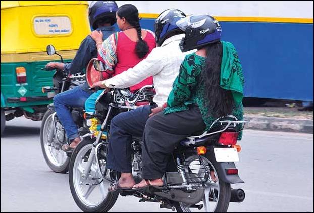 ban back seat passengers on two-wheelers Karnataka