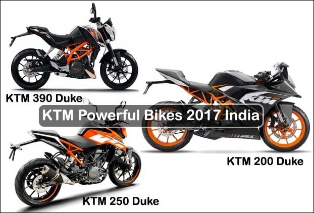 KTM 2017 Powerful Bikes in India